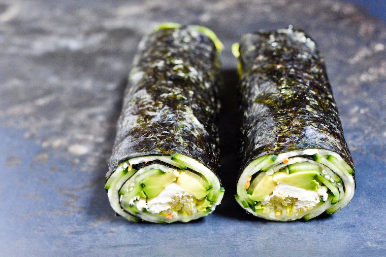 Cucumber and Avocado Quick Nori Roll Recipe